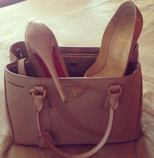 Prada bag and Louboutins  Pradahandbags   Prada handbags   Prada ... 8cc8b2ad58
