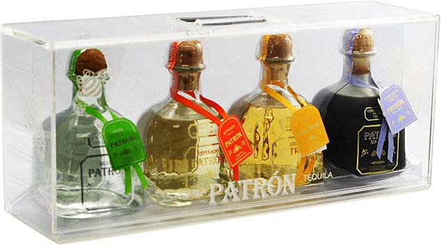 Patrón 4 Bottle Gift Set For The Tequila Lover
