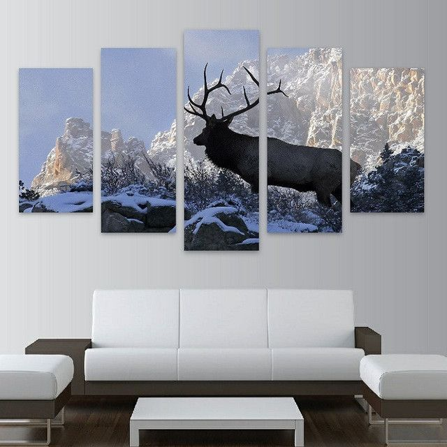 Elk Wilderness Snow Canvas Print Backpacking Pinterest Canvas