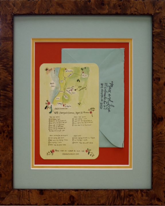 Wedding Invitation And Envelope In Frame Custom Design By Art Express New