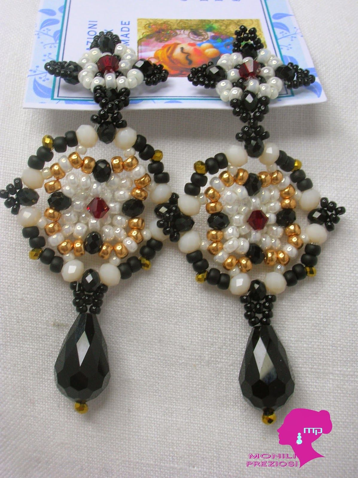Perlinando ...: TUTORIAL: EARRINGS DIAMOND DECO'