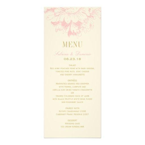 結婚式夕食メニューは のピンクの花のシャクヤクを梳きます