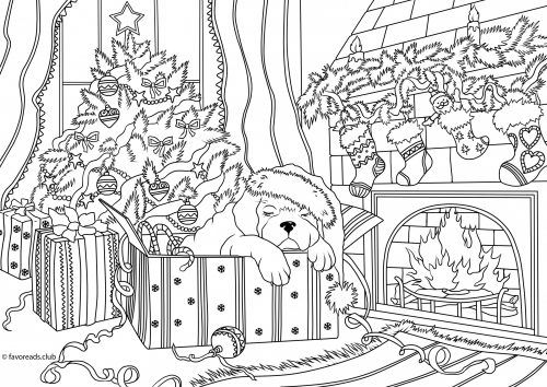 The Best Free Adult Coloring Book Pages Coloring Pages Christmas Coloring Pages Dog Coloring Page