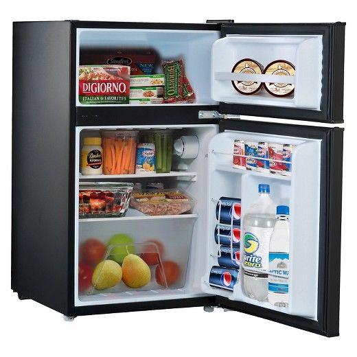 Whirlpool 3 1 Cu Ft Mini Refrigerator Black Wh31bke Mini Fridge With Freezer Compact Refrigerator Refrigerator