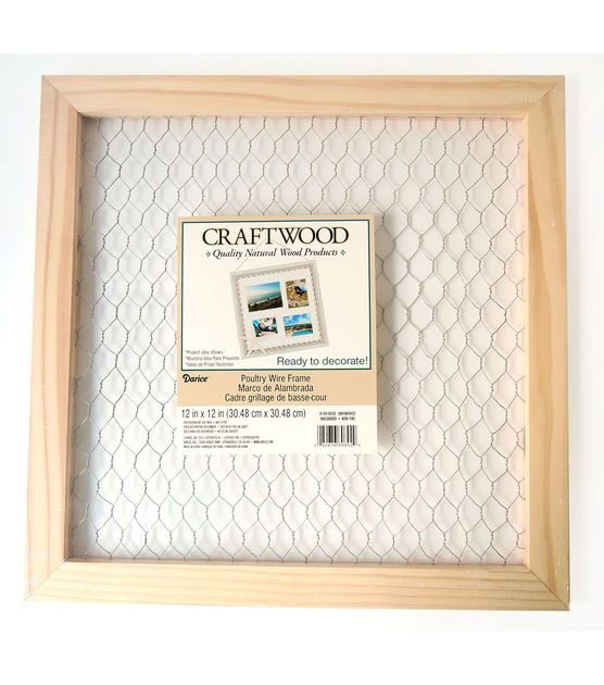 Darice Craftwood Square Unfinished Wood Frame With Chicken Wire Joann Chicken Wire Frame Wood Crafts Unfinished Frames