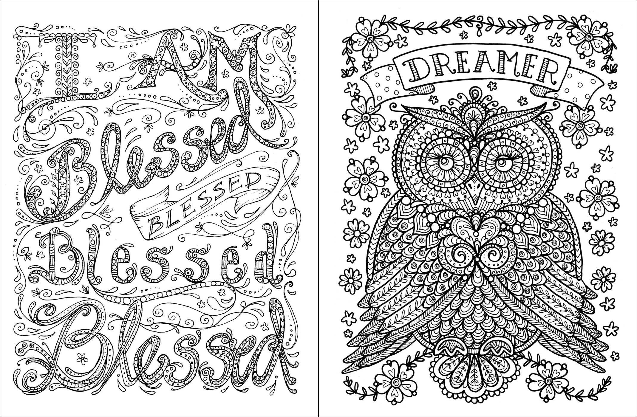 Amazon Com Posh Adult Coloring Book Inspirational Quotes