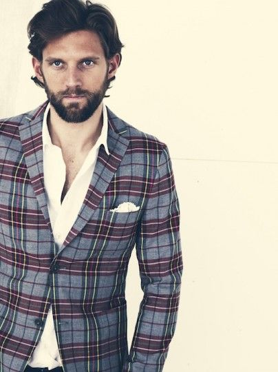 J. Lindeberg – Spring/Summer 2012 Collection. Big plaid, awesome.