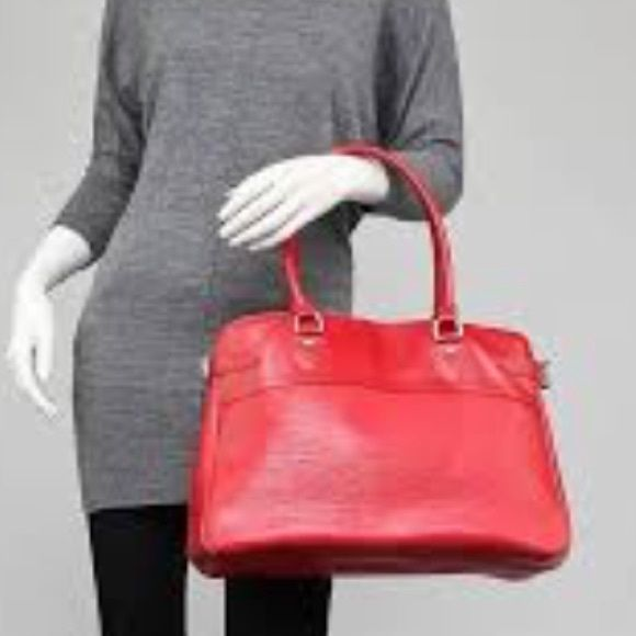 Louis Vuitton passy GM red epi leather with duster Chic and elegant Vuitton  passy GM tote 9881cb84a2
