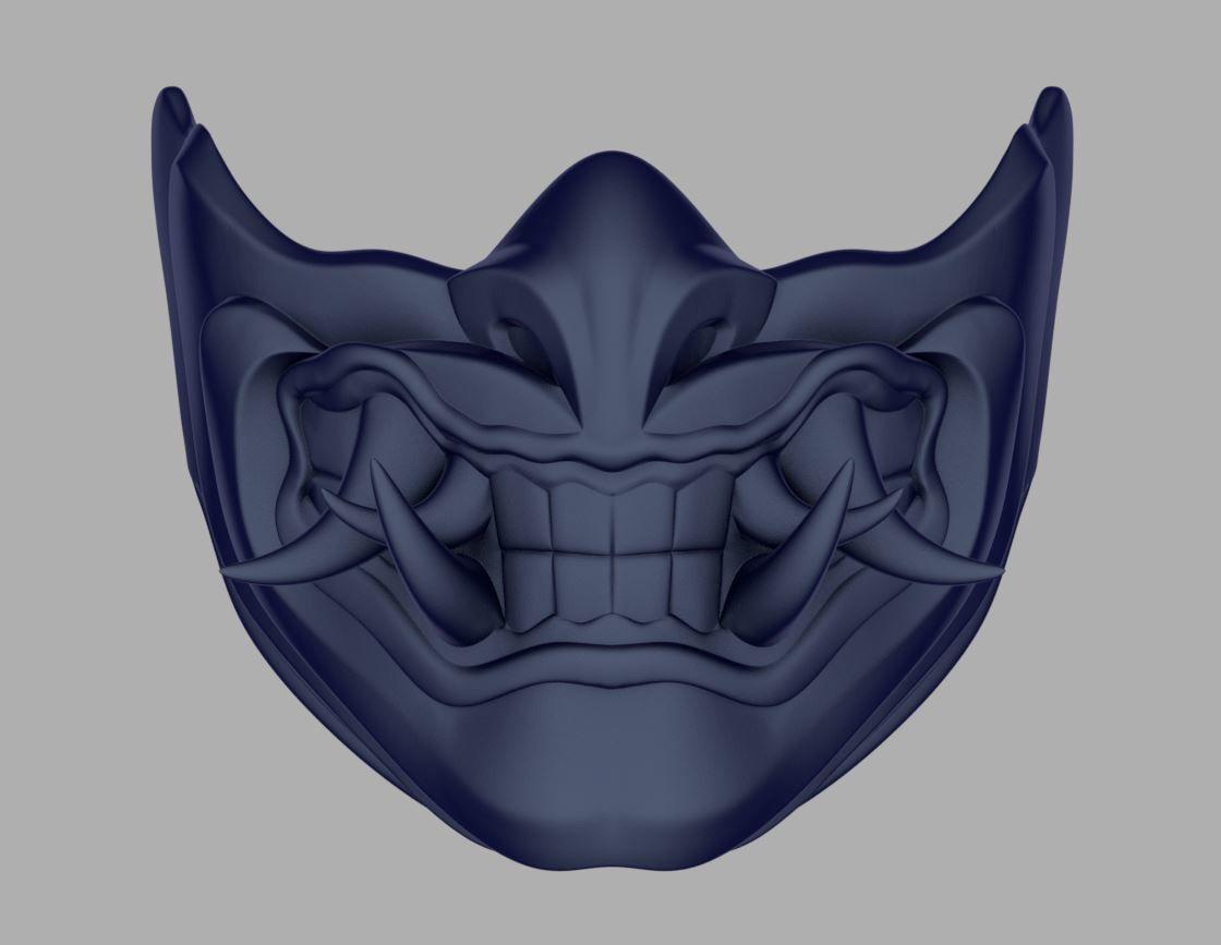 Sub Zero Samurai Mask For Face From Mortal Kombat 11 3d Print Model Print Models Samurai Mortal Kombat