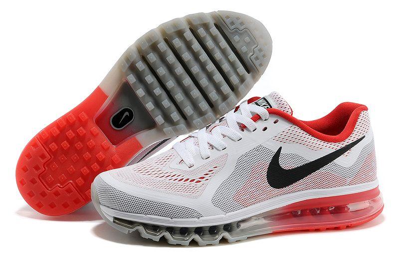 Mens Nike Air Max 2014 Blanc Chaussures De Course Noir Rouge où trouver sortie 2015 nouvelle excellente en ligne U85KZONM