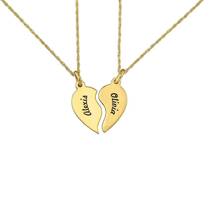 489a390d3b Half Heart Necklace, His and Hers Jewelry, Gold plated matching necklaces  for couples, puzzle heart | Products | His, hers jewelry, Matching necklaces  for ...