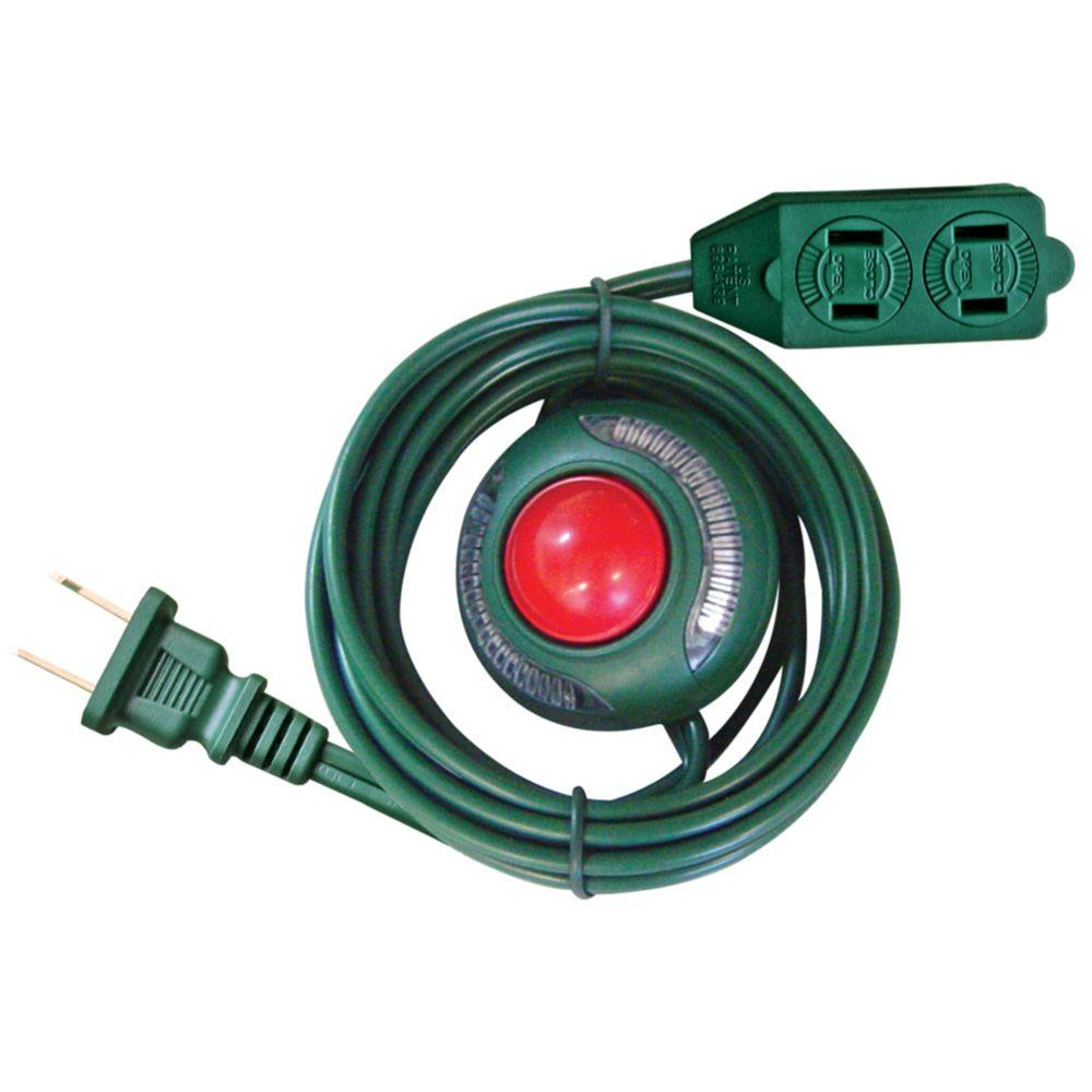 Home Accents Holiday 6 Ft 16 2 3 Outlet Extension Cord With Footswitch Green Kab 13 Home Accents Home Depot Extension Cord