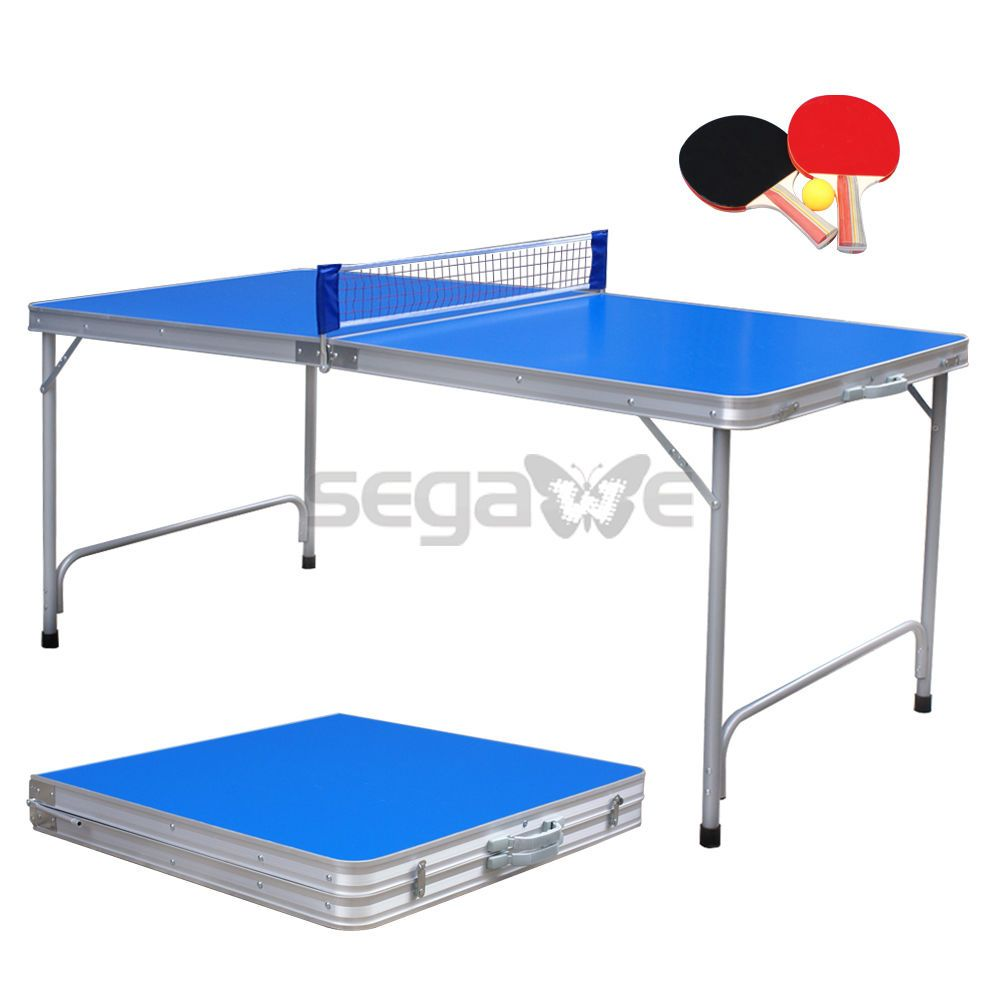 Ping Pong Table Tennis Game Ball Paddles Mid Size Indoor Outdoor Folding Set