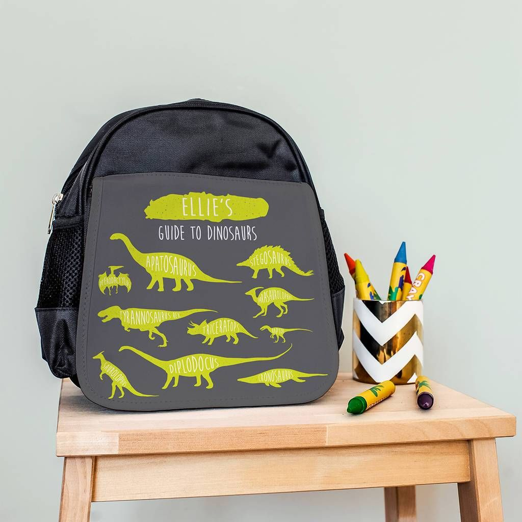 Personalised Dinosaurs Children/'s School Bag Rucksack Backpack