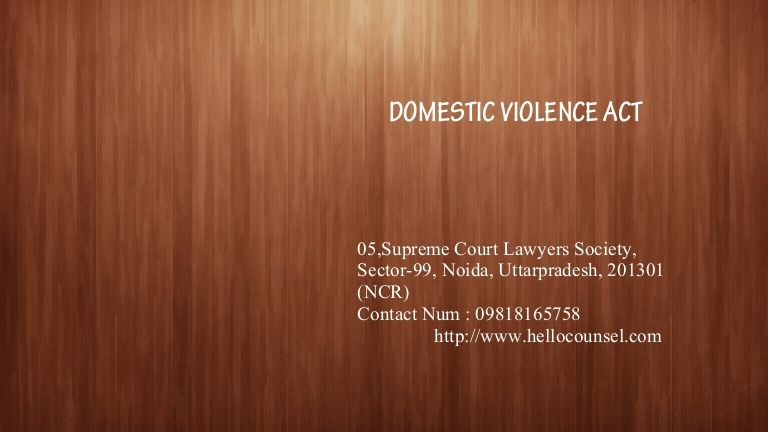 It has gone at length to describe physical, emotional, verbal, sexual and economic abuse. One of the most highlighting features of the Act has been the right of the woman to reside in the shared household irrespective whether she has any right, title or beneficial interest in the same.