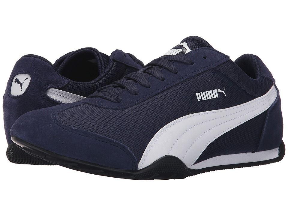 Womens Shoes PUMA 76 Runner Fun Peacoat/Peacoat