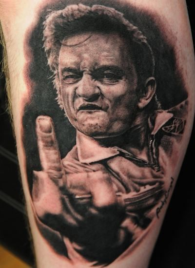 Best Portrait Tattoo Johnny Cash Tattoo Portrait By Andy Engel