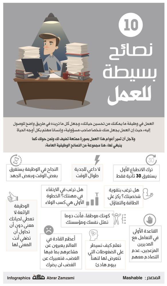 10 نصائح بسيطة للعمل صحيفة مكة Life Skills Activities Work Goals Learning Websites