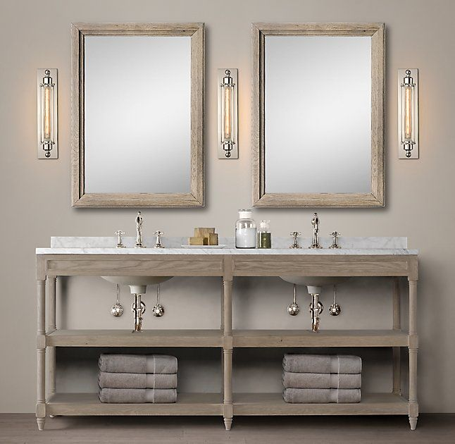 I Like The Legs With A Few Skinny Drawers On Top And A Bottom Shelf - Bathroom vanities with open bottom shelf