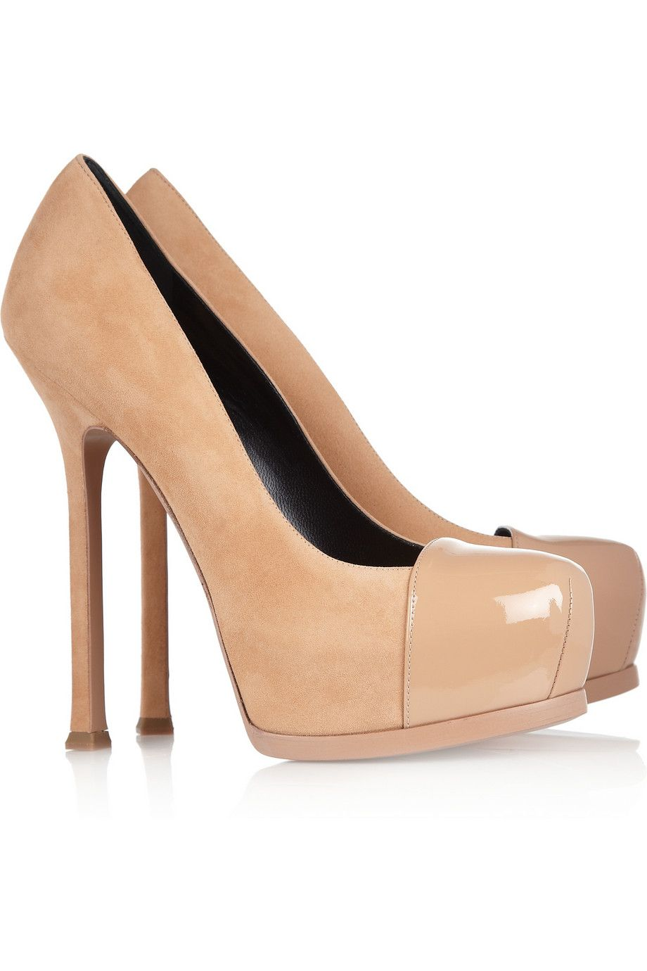 Suede and leather pumps Saint Laurent YnqOz