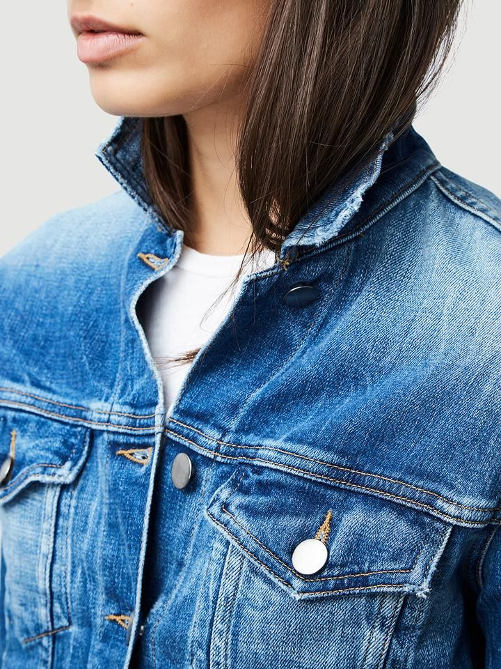 Leather Trench Noir In 2020 Vintage Jacket Double Denim Looks Denim Jacket Fashion