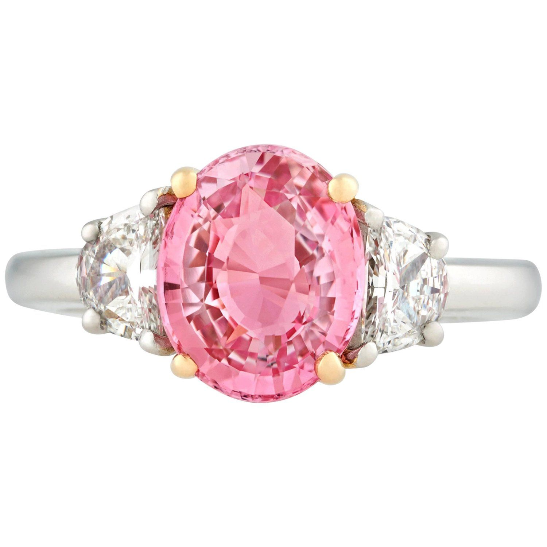Padparadscha sapphire ring carat sparkling lovelies