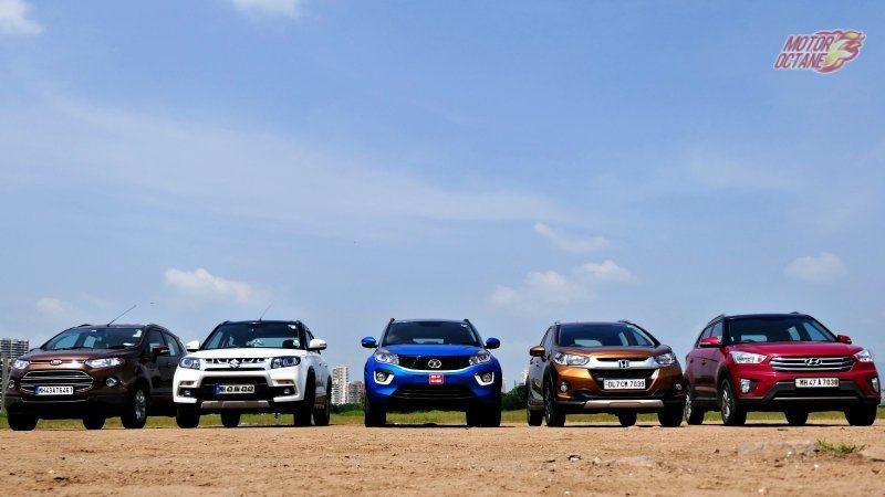 Tata Nexon Vs Ford Ecosport Vs Maruti Vitara Brezza Vs Honda Wrv Vs Hyundai Creta Mega Comparison Ford Ecosport