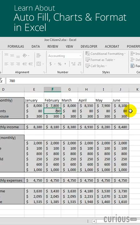 United Computer Consultants How To Plan And Construct An Excel Spreadsheet Charts Autofill Formatting Excel Excel Formula Auto Fill