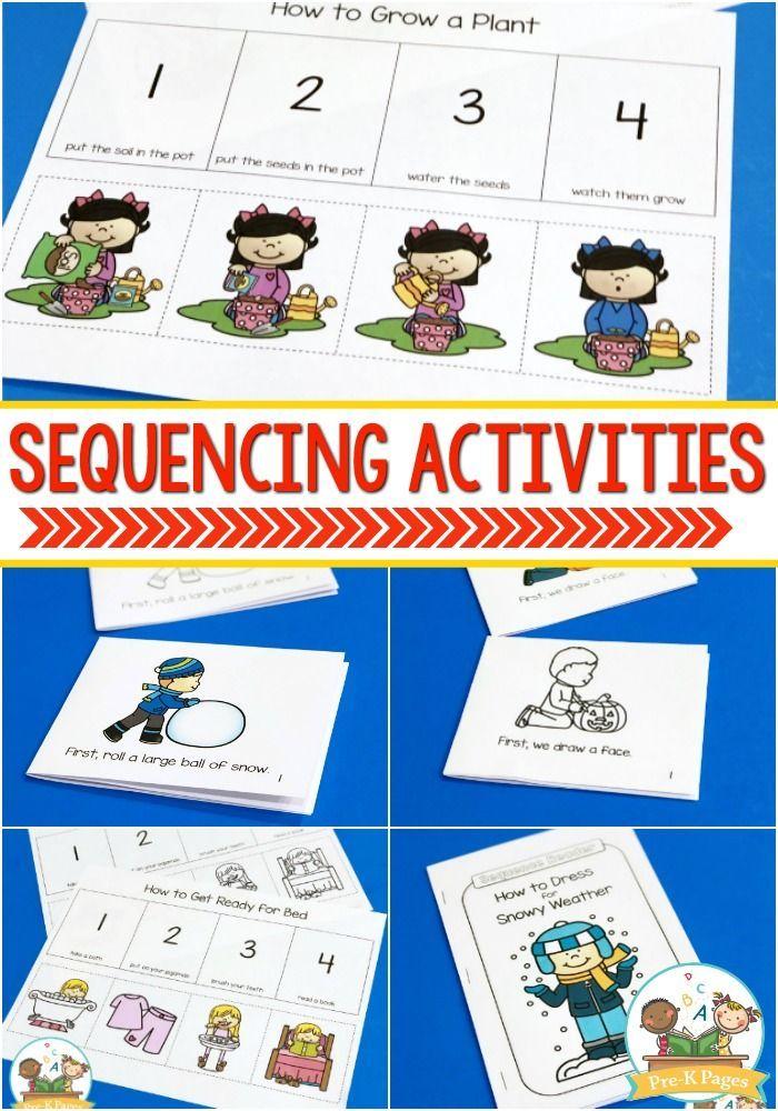 Order Of Events Worksheets For Kindergarten