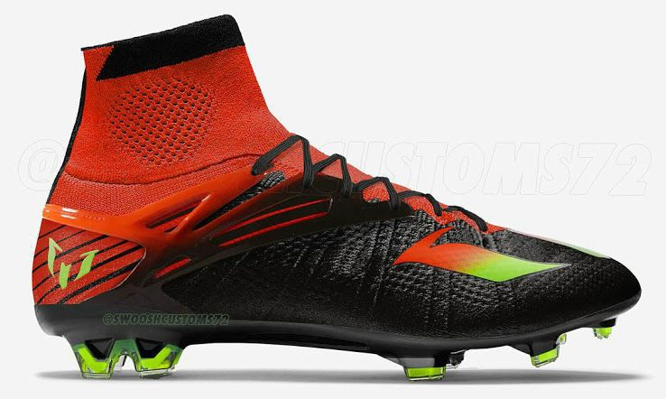 Black   Red   Green MessiFly Concept Boots - Footy Headlines ... 2cd24afb0