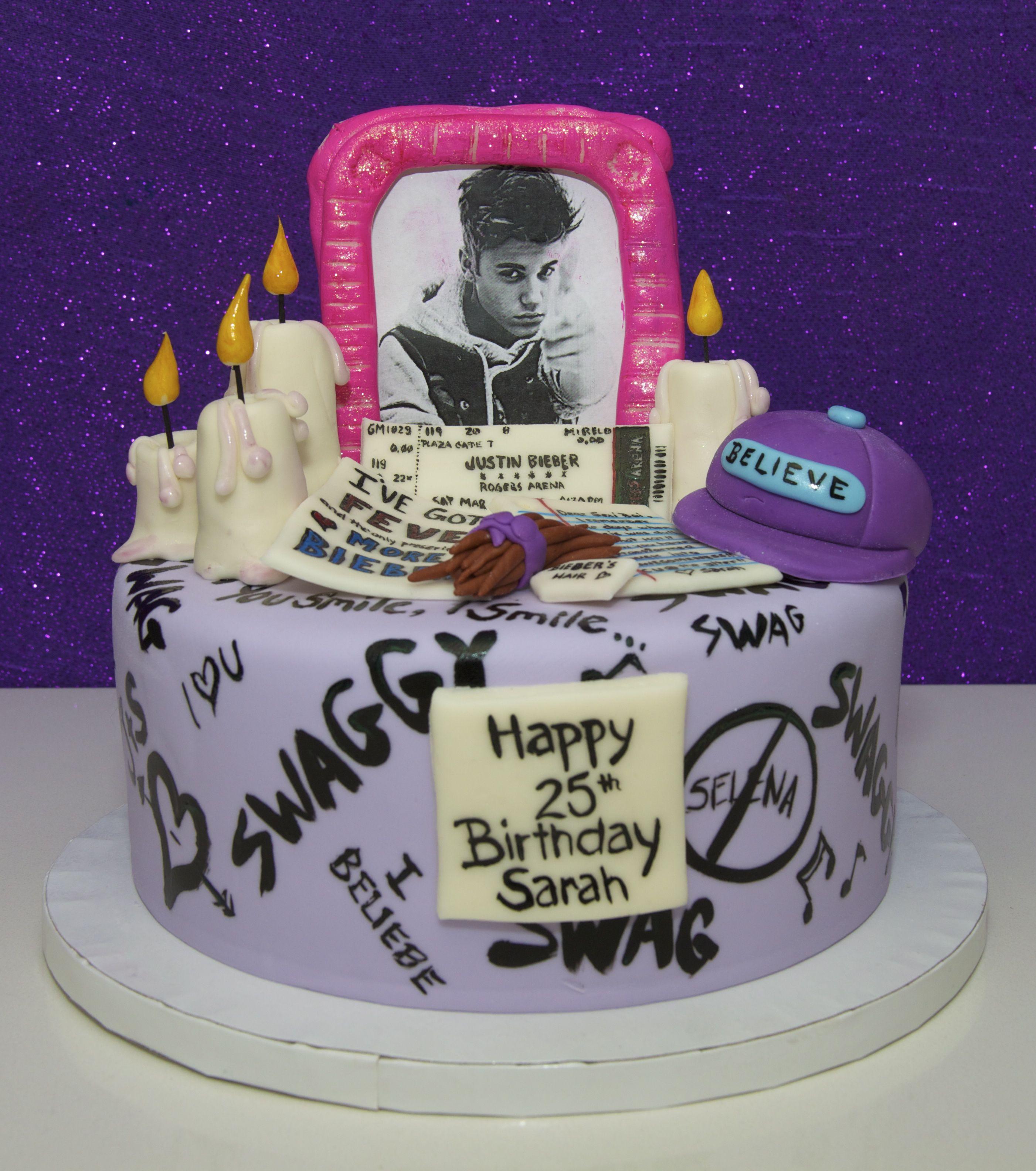 Stupendous Justin Bieber Cake With Images Justin Bieber Cake Justin Funny Birthday Cards Online Elaedamsfinfo