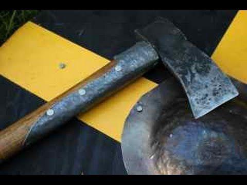 Homemade Viking Axe- Handle Install