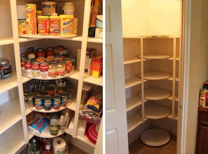 Clever solution for the corner in the pantry | Pantry | Pinterest