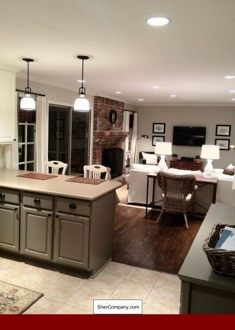 Pictures Of Small Living Room And Kitchen Combined Kitchen Living Room Bo Carterhome In 2020 Living Room And Kitchen Combined Dining Room Floor Living Room Kitchen