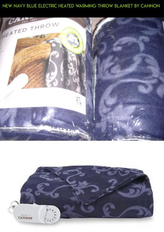 NEW Navy Blue Electric Heated Warming Throw Blanket By Cannon Plans Unique Cannon Electric Throw Blanket