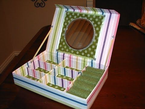 Jewelry Box El Paso How To Make From Recycled Cardboard Boxes A Jewerly Box With Mirror