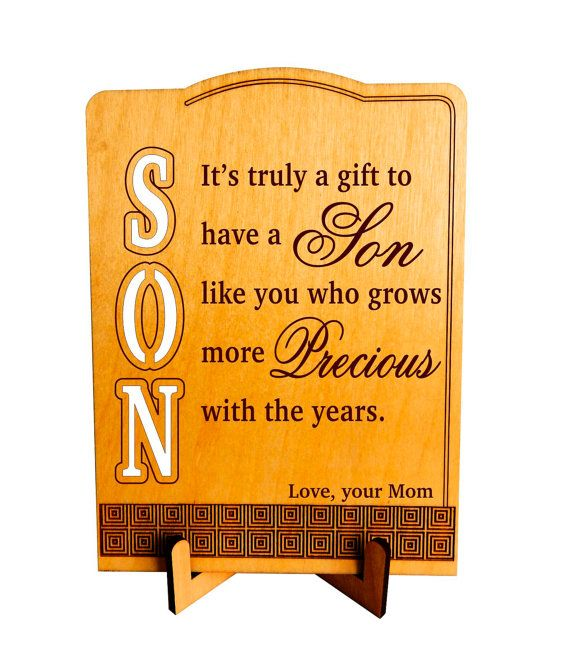 office gifts for dad. Christmas Gift To My Son Office Plaque By Greatwoodengifts Gifts For Dad
