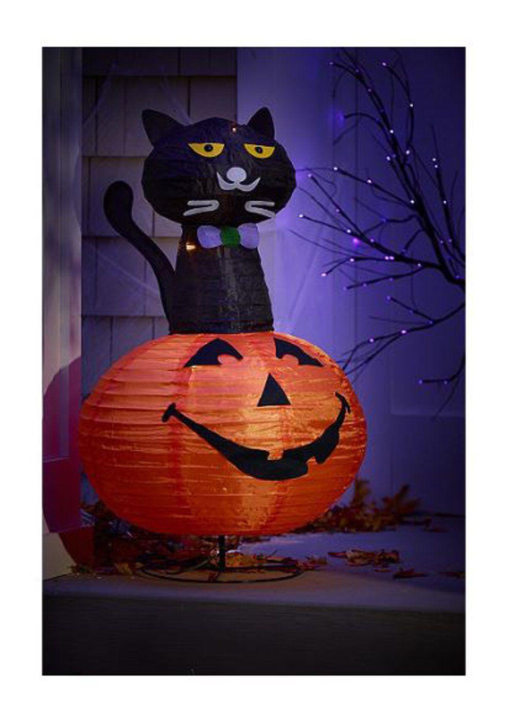 Halloween Diy Alcove 36 Lighted Halloween Black Cat On