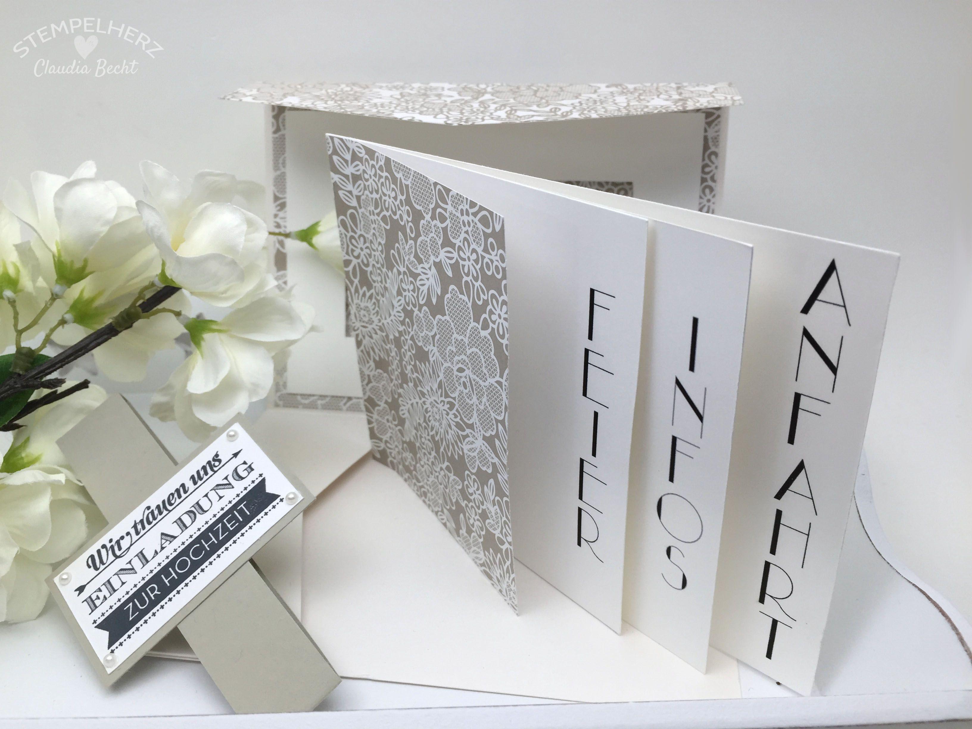 Stampin Up Stempelherz Hochzeitseinladung Hochzeitskarte Hochzeit