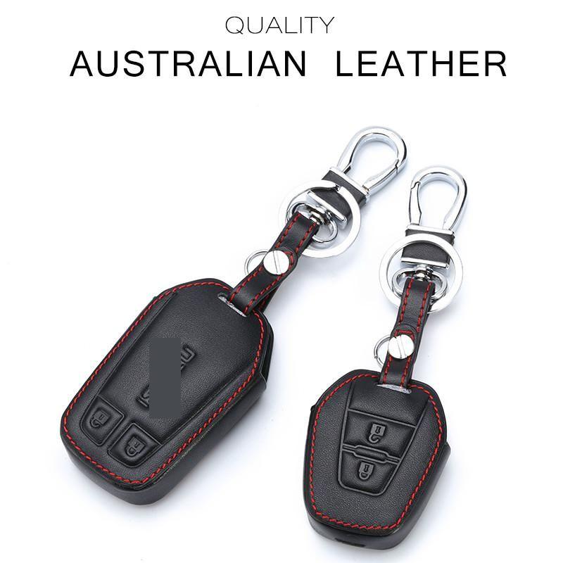 Leather Car Key Protection Bag Car Key Holder Keychain Ring Case Fit for Hyundai