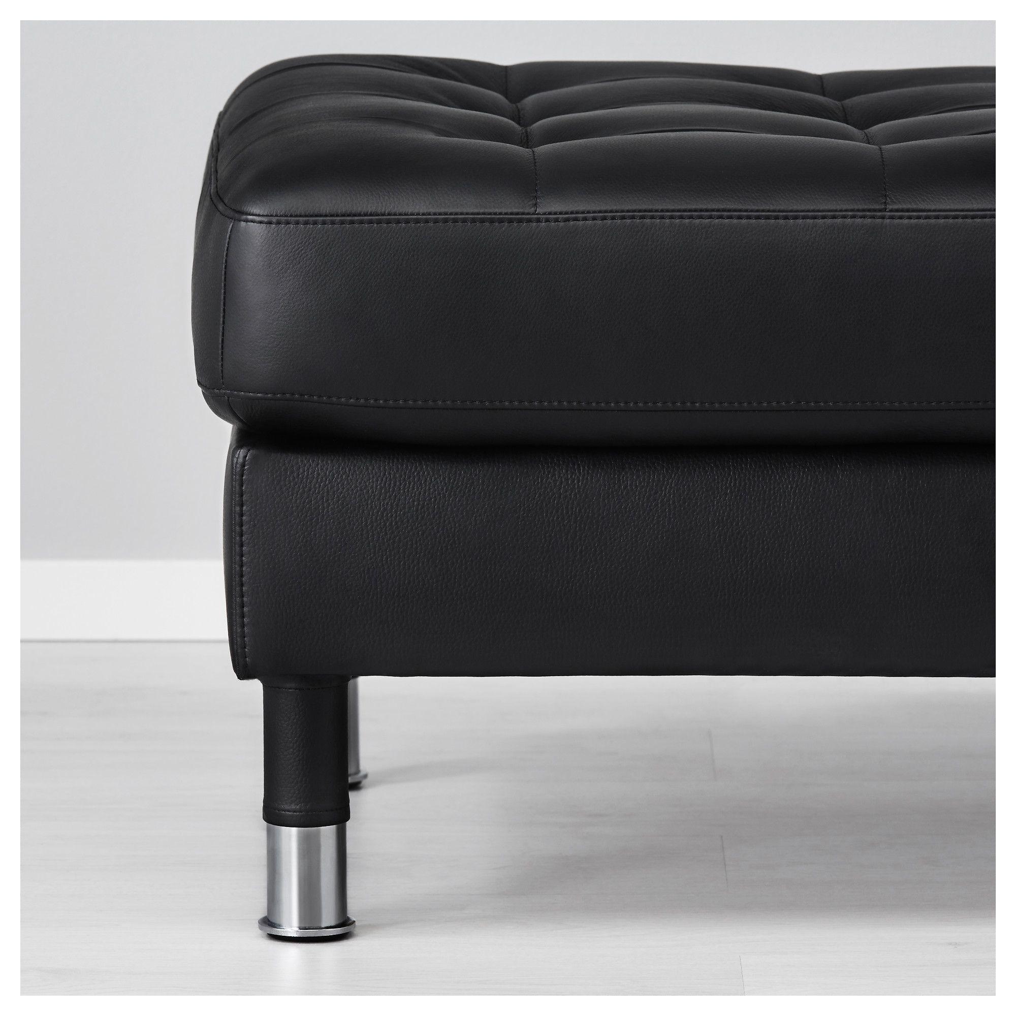 Brilliant Ikea Landskrona Footstool Grann Bomstad Black Metal Machost Co Dining Chair Design Ideas Machostcouk