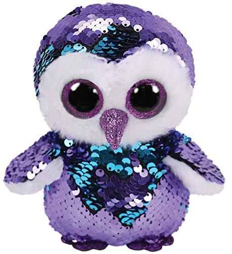 TY Moonlight Flippable Sequin Beanie Boo Penguin Cute Soft Toy 10cm