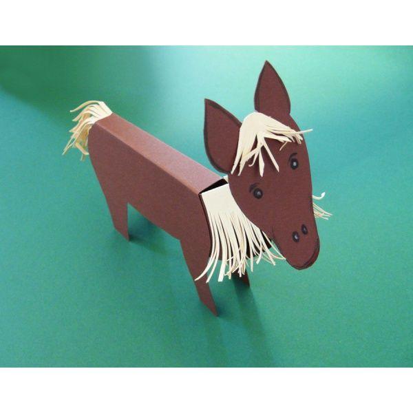 pferd aus papierrollen basteln, ein schönes pferd basteln | domácí zvířata | pinterest | basteln, Design ideen
