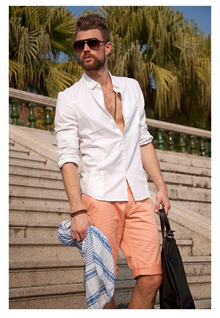 White Summer Shirt Mens