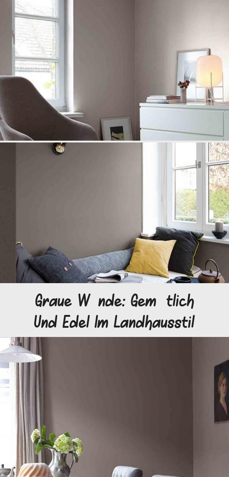 Graue Wande Gemutlich Und Edel Im Landhausstil Alpinafeinefarben