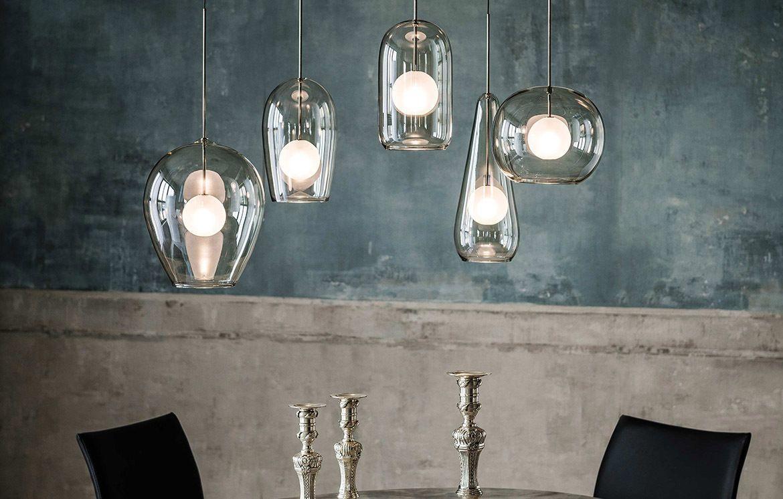 Melody Ist Eine Hangeleuchte Die Besonders Als Arrangement Gut Zur Geltung Kommt Der Lampenschirm Aus Rauchigem Glas Ist Hangeleuchte Lampe Esstisch Lampen