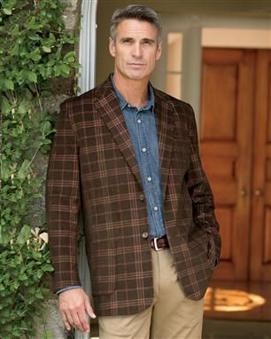 Cross Country Plaid Corduroy Sport Coat