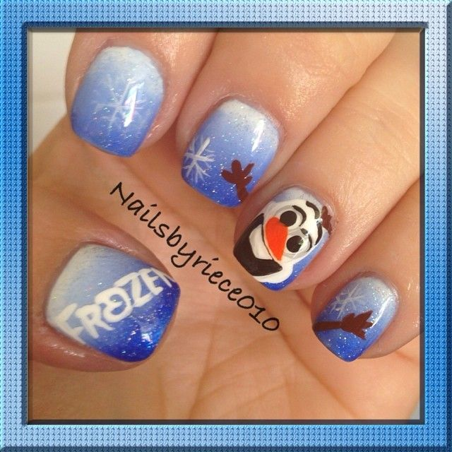 Instagram media by nailsbyriece010 frozen with olaf nail nails instagram media by nailsbyriece010 frozen with olaf nail nails nailart prinsesfo Gallery