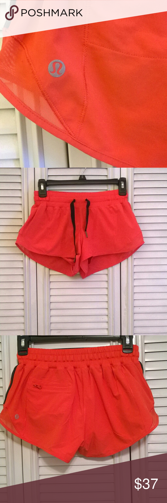 Lululemon coral colored shorts. Great condition ! No stains no rips. Only used a couple of times. lululemon athletica Shorts Skorts