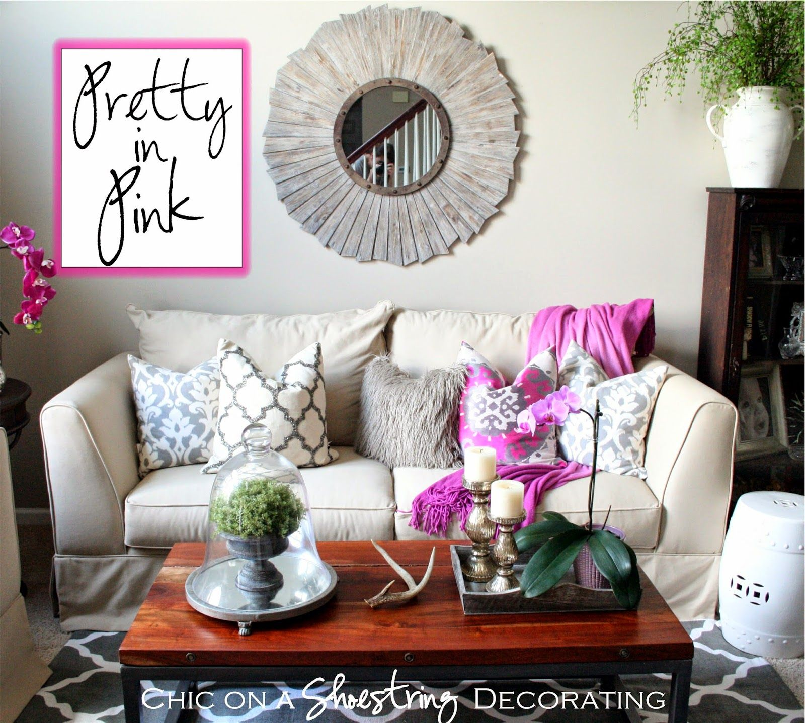 My Living Room is Pretty in Pink! Adding pink without looking too ...